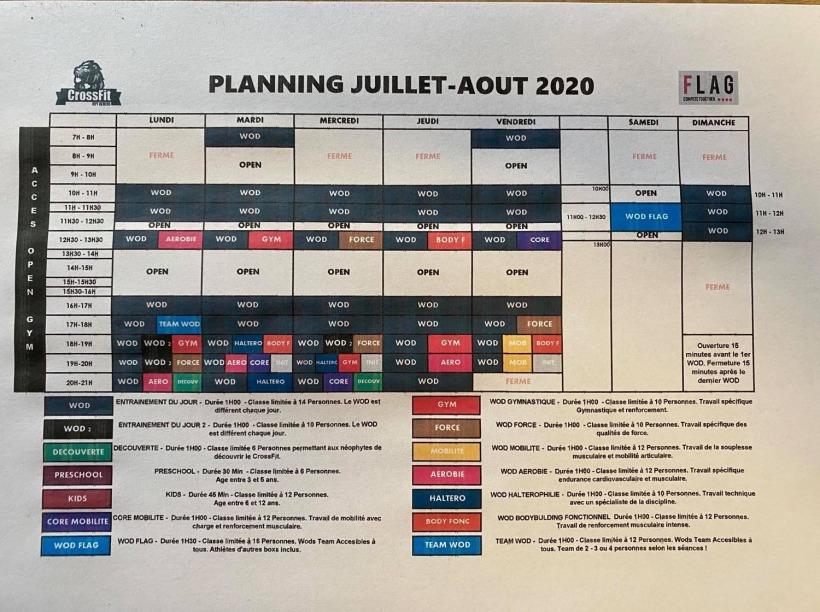 PLANNING ETE 2020